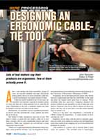 Designing an Ergonimic Cable-tie Tool