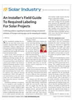 An Installer's Field Guide to Required Labeling for Solar Projects