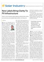 New Labels Bring Clarity to PV Infrastructure