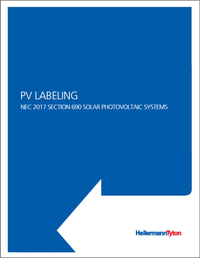 PV Labeling NEC 2017 Section 690 Standard White Paper