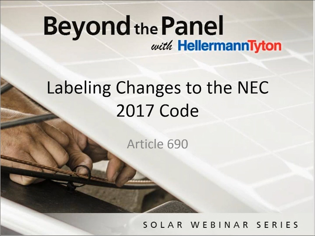 NEC 2017 Article 690 Marking Requirements - HellermannTyton