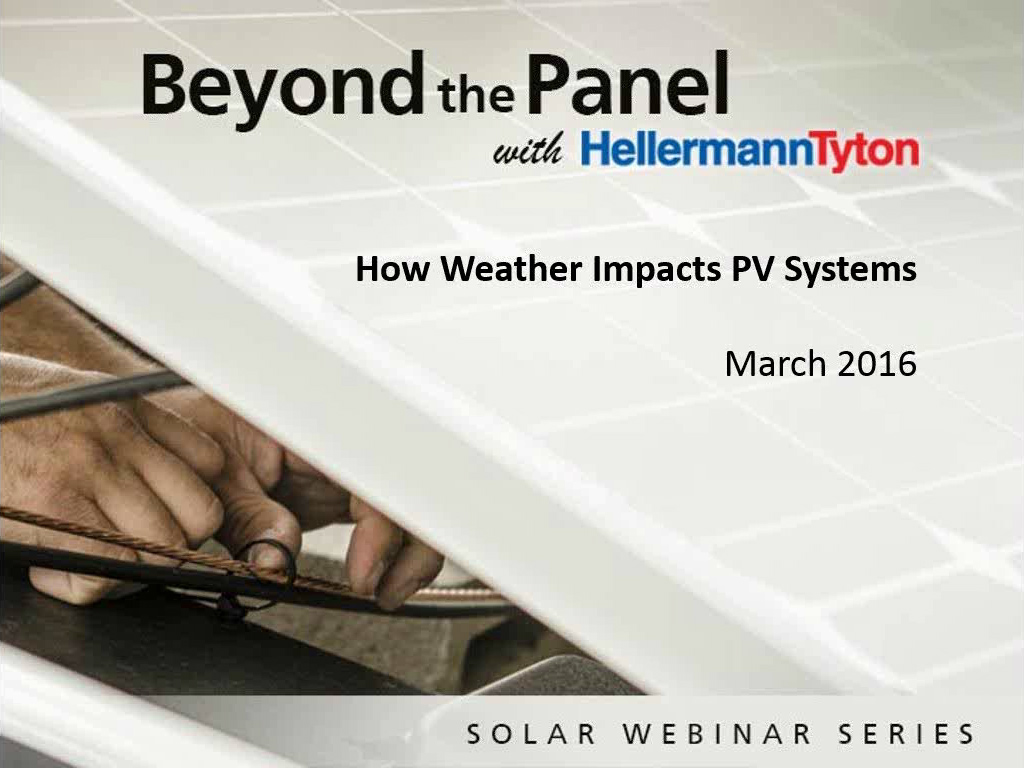 How Weather Impacts PV Systems - HellermannTyton