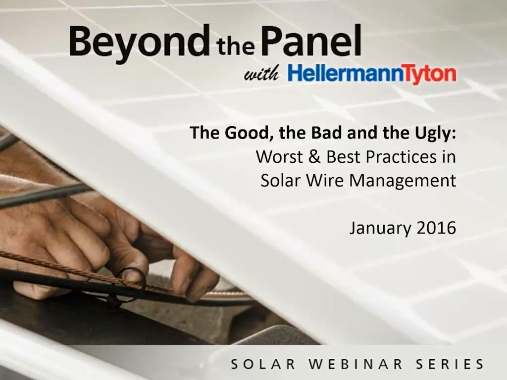 Worst & Best Practices in Solar Wire Management - HellermannTyton